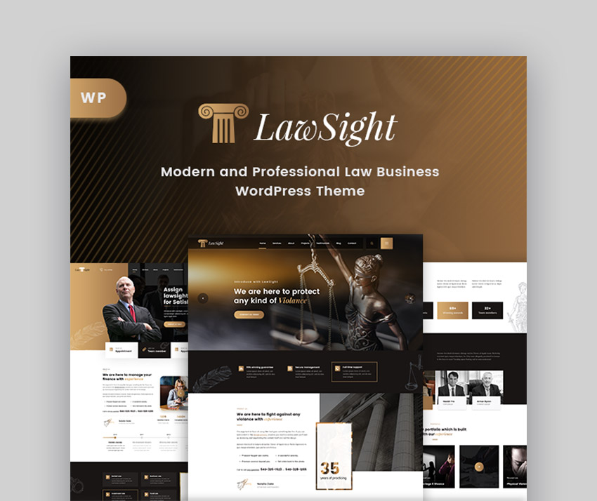 Lawsight Lawyer WordPress Theme