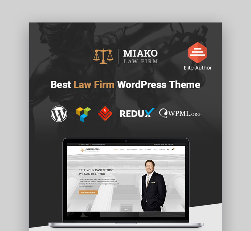 Miako law firm WordPress theme