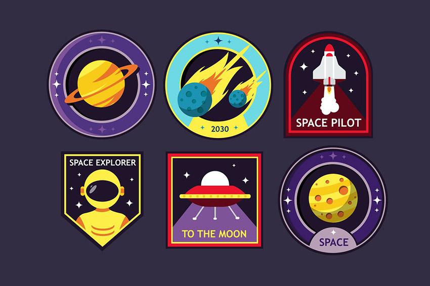 Cosmic Badge Logo Design Template