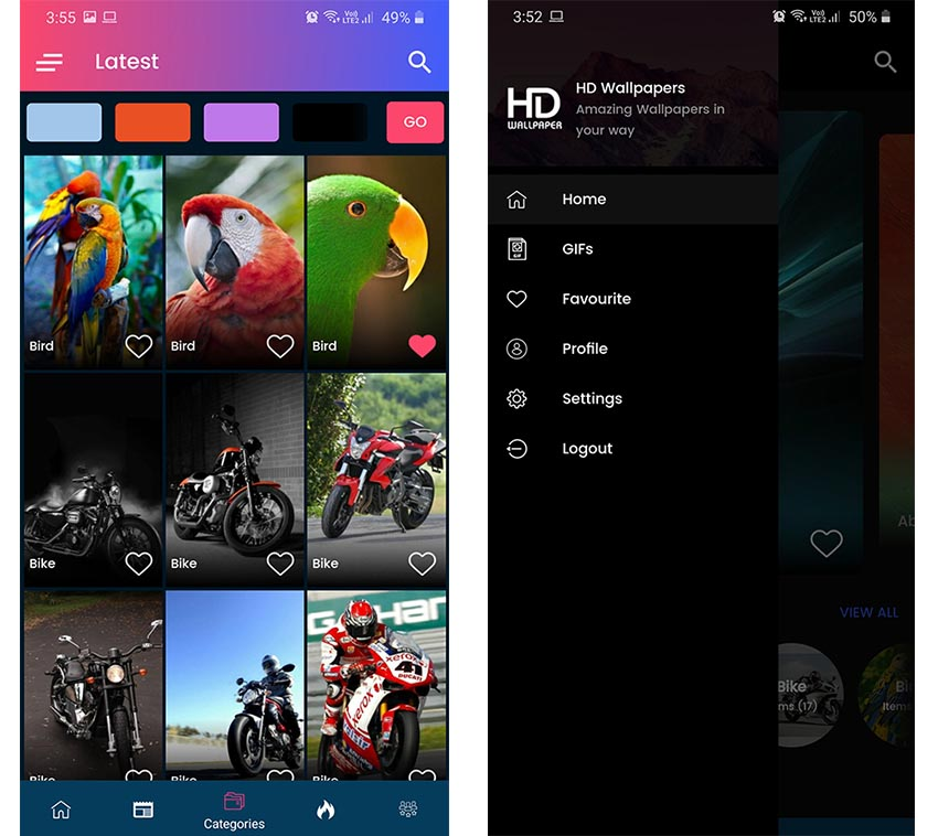 Android Wallpapers App Template