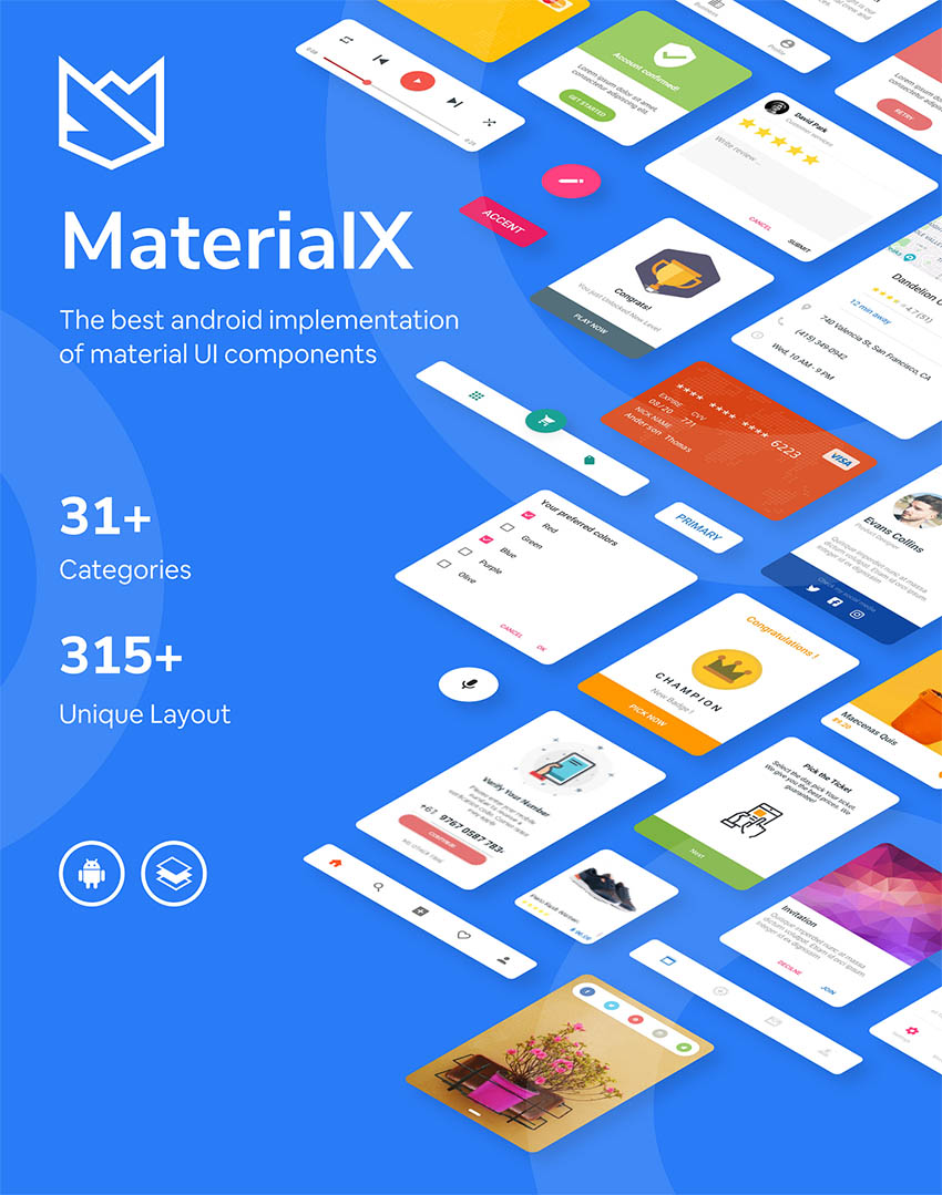 MaterialX Android Material Design UI Components Download