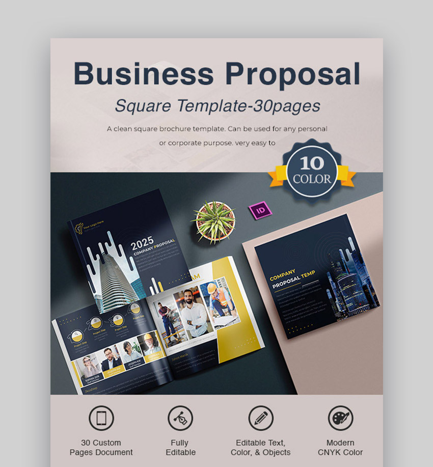 Square Professional Project Proposal Template