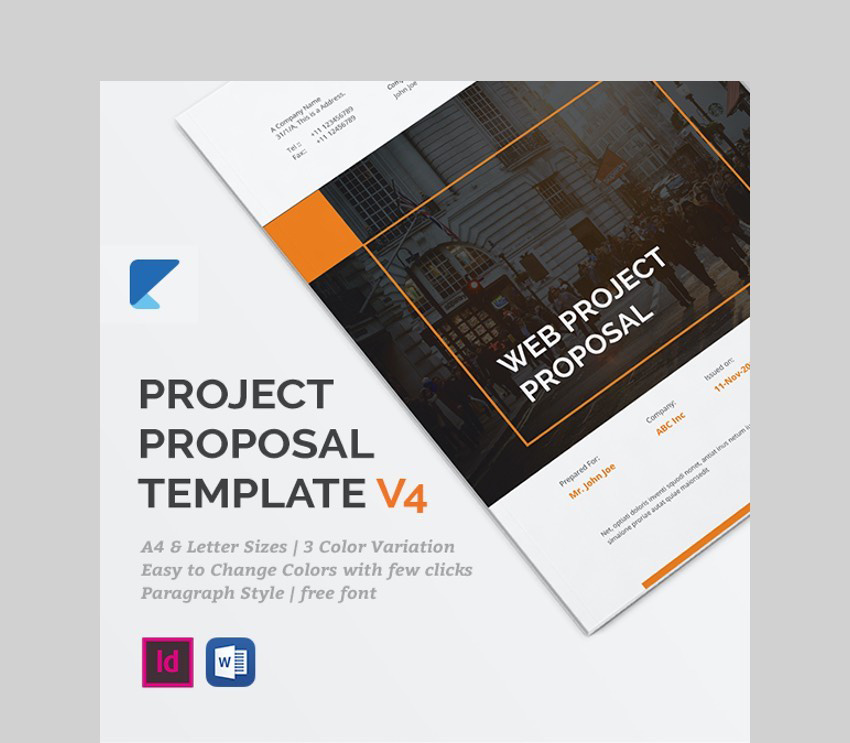 Professional Project Proposal Template - V4