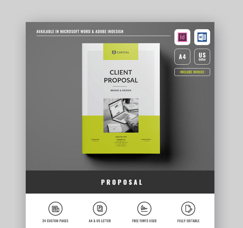 Clean and Creative Project Proposal Template