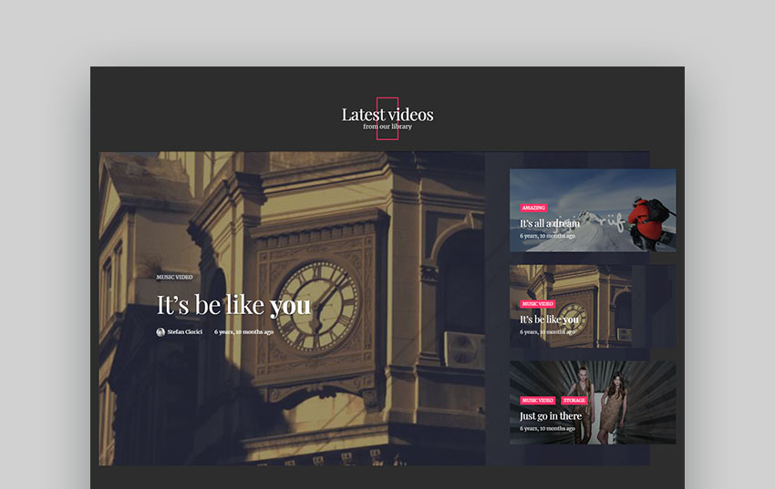 Venosa WordPress Video Blog Theme Responsive
