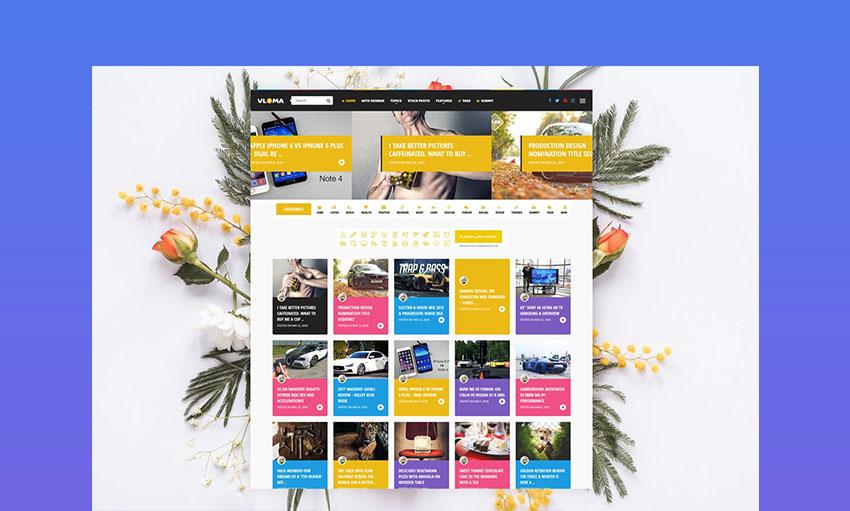 Vloma Grid WordPress Video Blog Theme Responsive