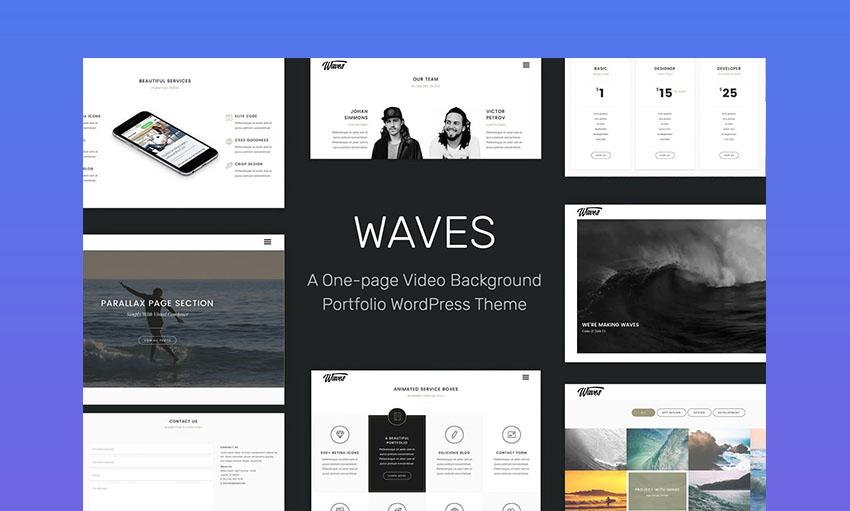 Waves Best Video WordPress Theme