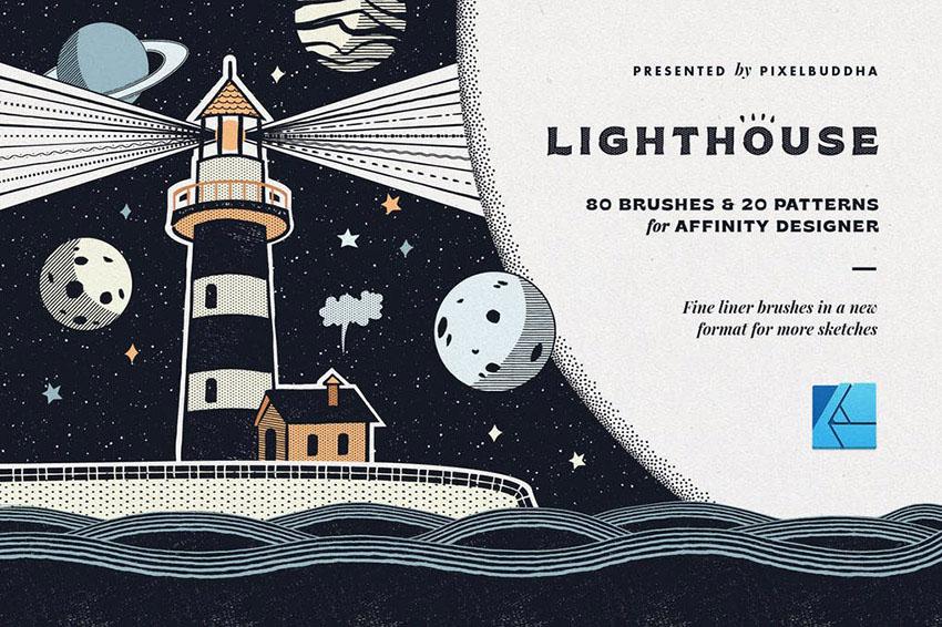 Lighthouse Liner Affinity Designer Brushes