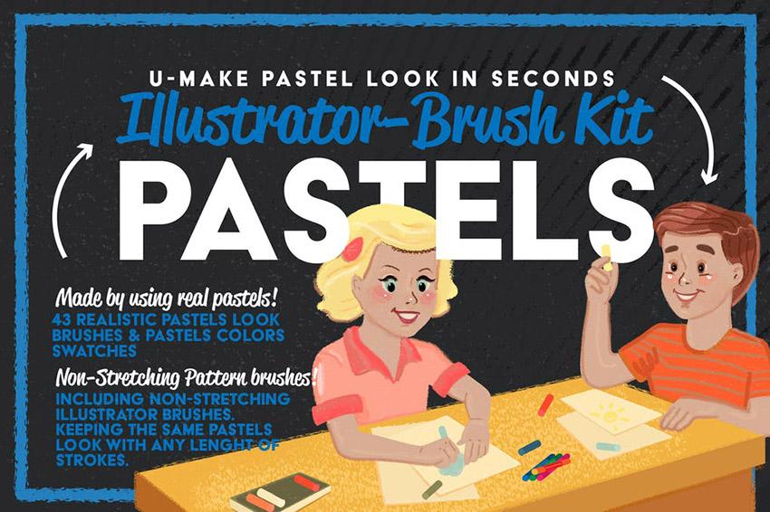 Pastels Illustrator Brush Kit Affinity Resources