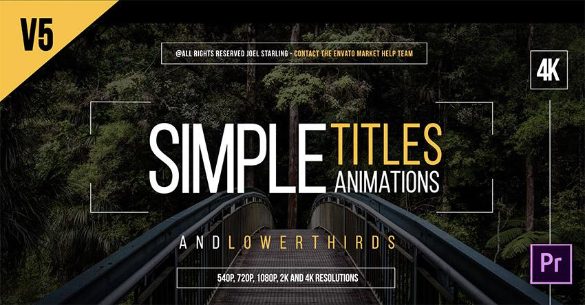 Gold Simple Titles Template Premiere Pro