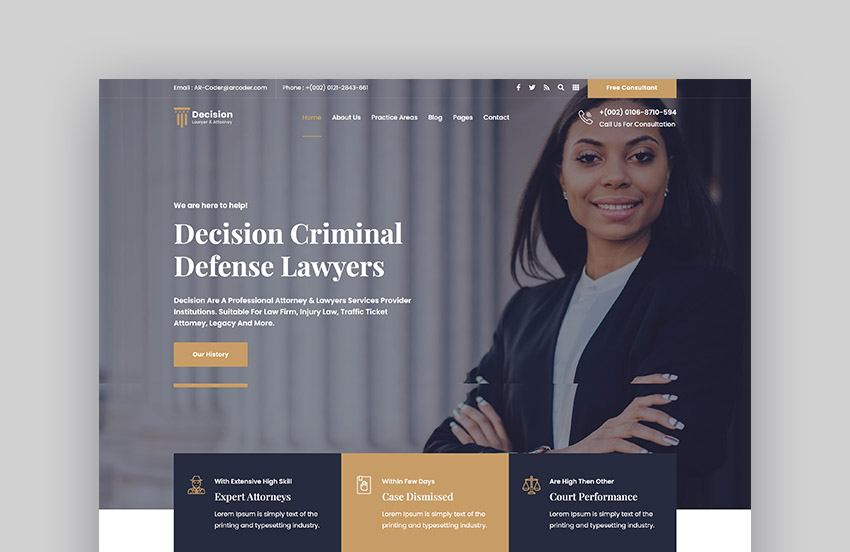 Decision Law Firm Website Template