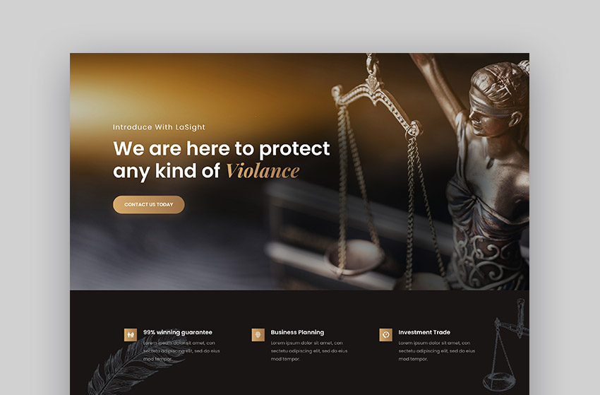 Lawsight HTML Lawyer Template