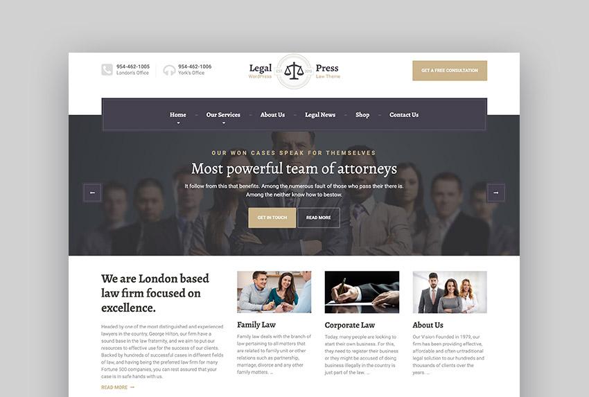 LegalPress Lawyer Template