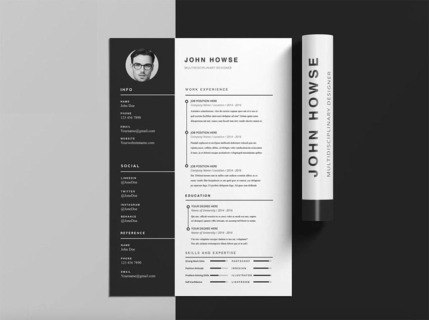 Free InDesign Resume Templates