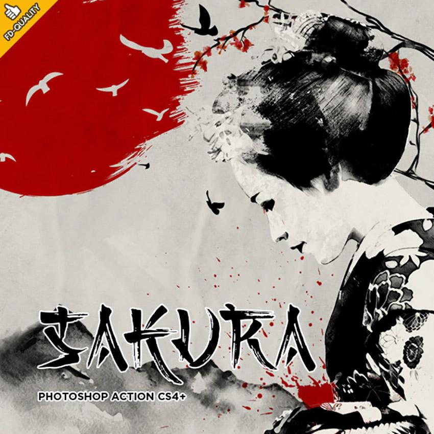 Sakura CS4 Photoshop Action