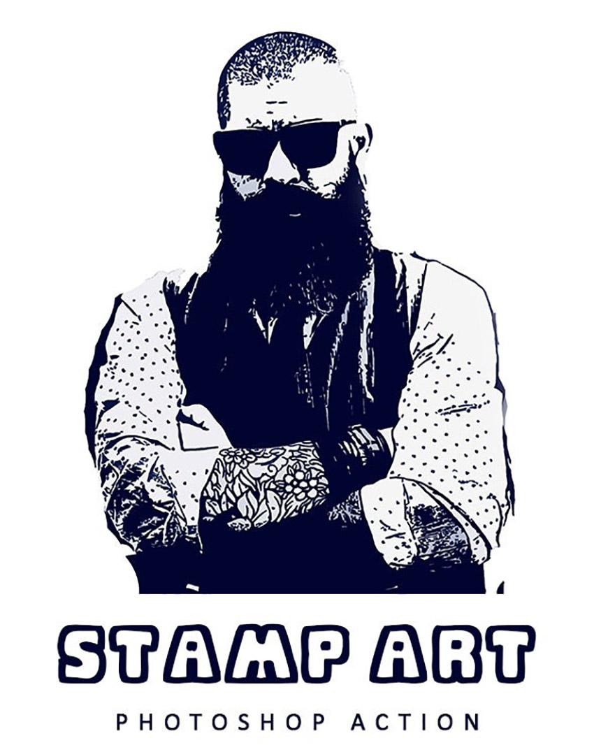 Stamp Art Photoshop Action