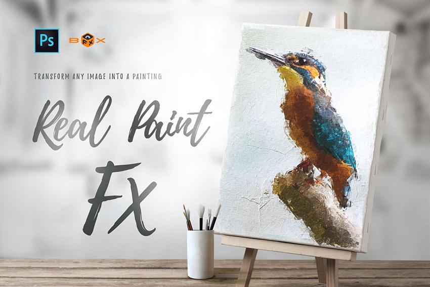Animated Real Paint FX Premium Paint Effect Photoshop