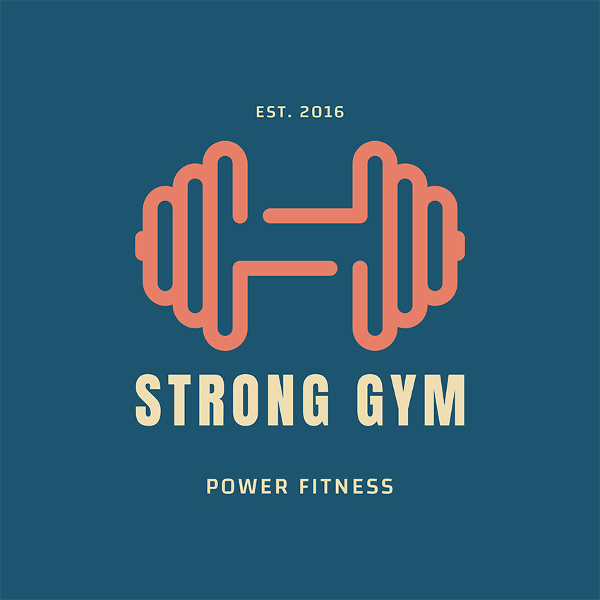 Power Fitness Gym Online Logo Generator
