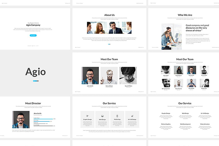 Agio Template PPT Simple