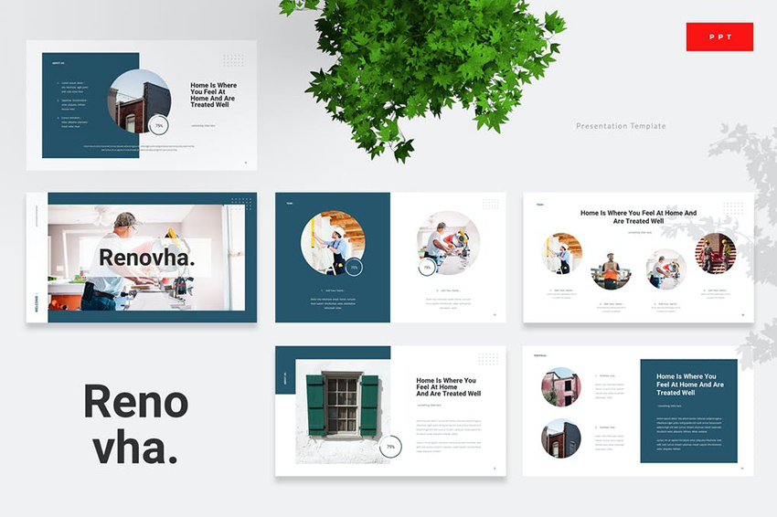 Renovha Template PPT Simple