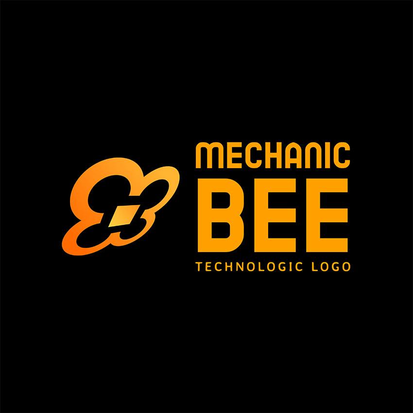 Tech Company Logo Design Generator with Quadcopter