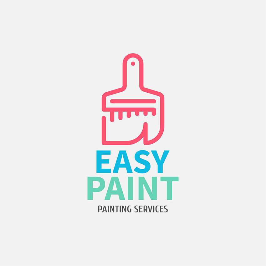 Colorful Logo Maker for a Painting Services Company