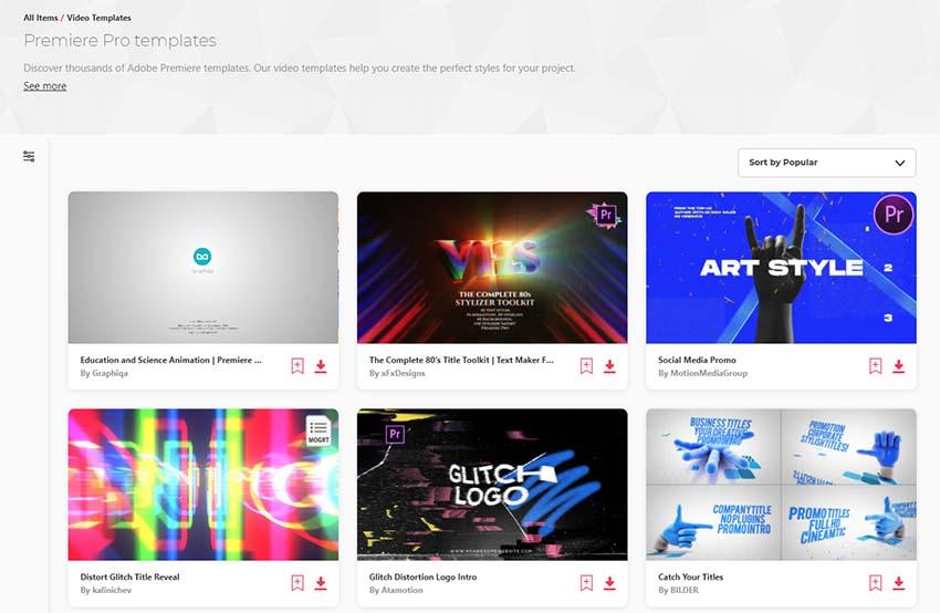 Envato Elements video templates