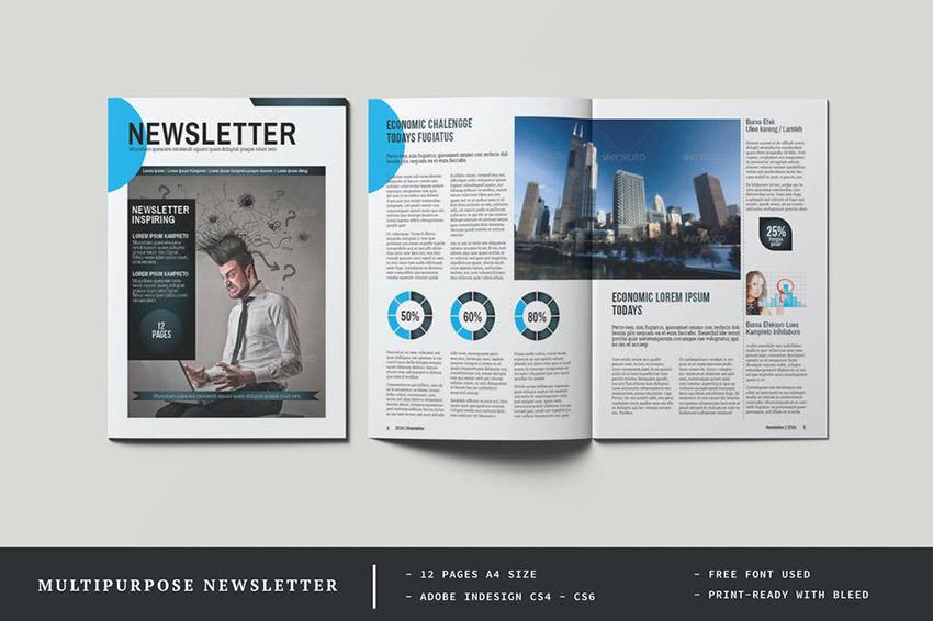 Multipurpose Newsletter Template Download