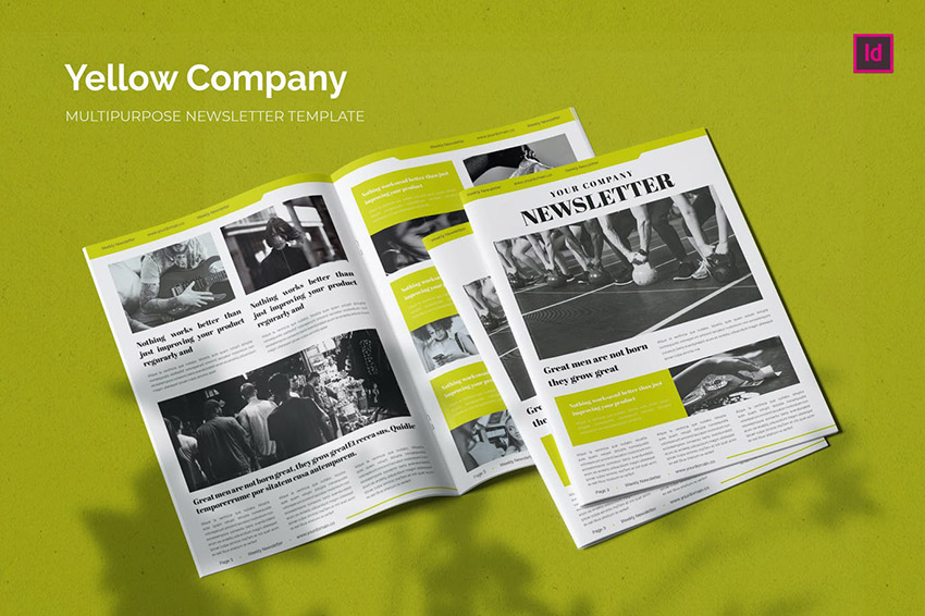 Yellow Company Newsletter Template