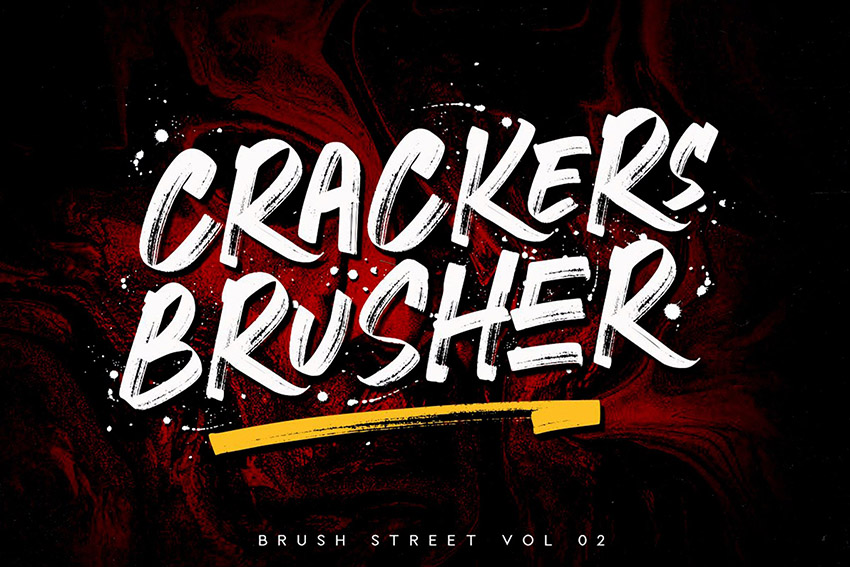 Crackers Brusher Brush Font Download