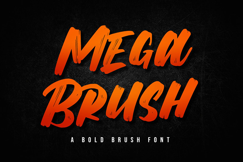 Mega Brush Font Download