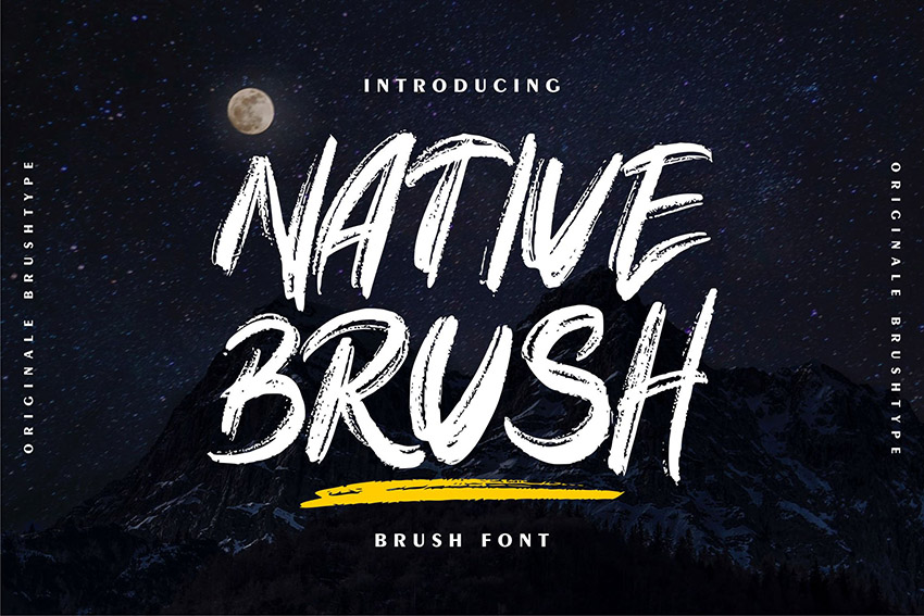 Native Brush Calligraphy Font Download