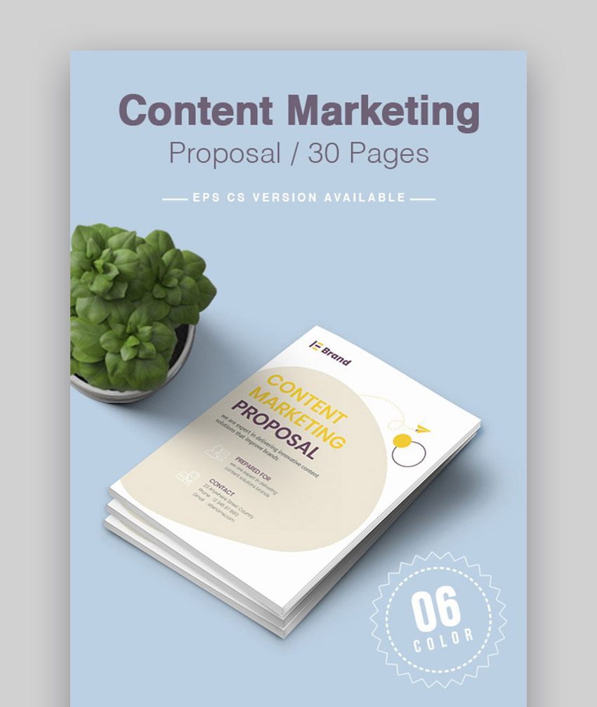 Clean Digital Content Marketing Proposal