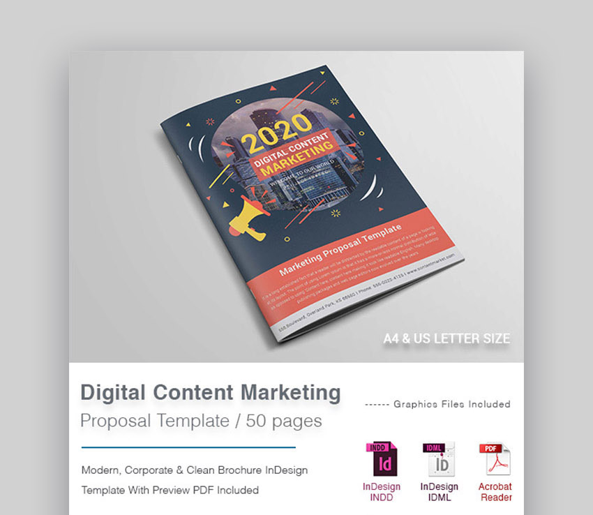 Digital Content Marketing Project Proposal Template