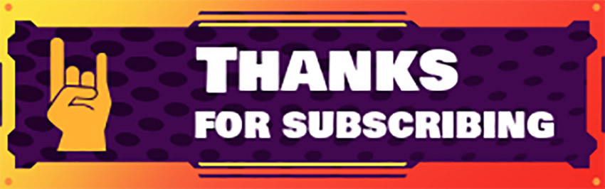 Subscription Thank You Twitch Channel Panel Template