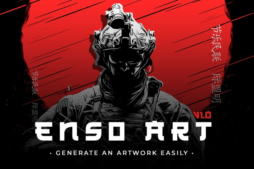 Enso Art Photoshop Action Download
