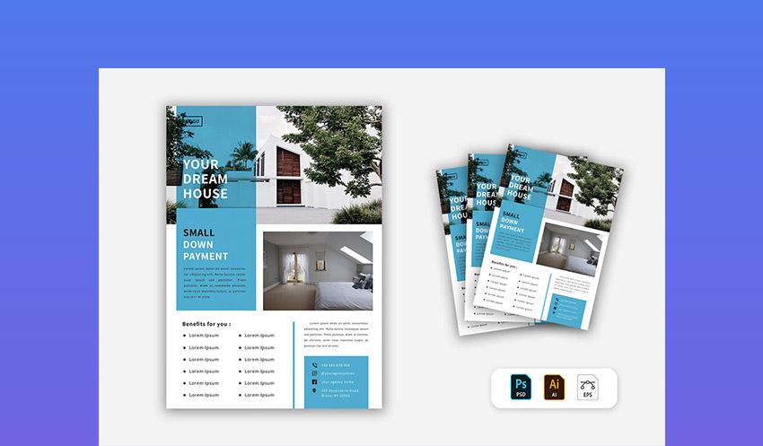 Minimal Real Estate Flyer Design