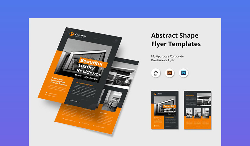 Abstract Shape Real Estate Flyer