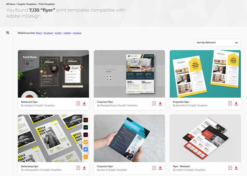 Envato Elements InDesign Flyer Templates