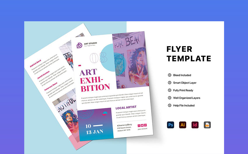 Abstract Creative InDesign Flyer Template