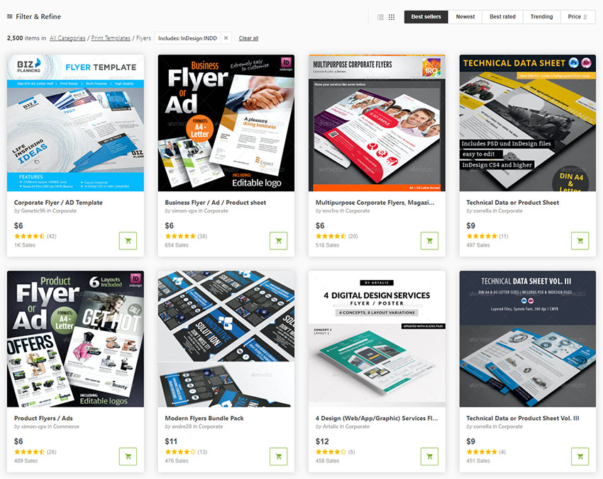 GraphicRiver InDesign Flyer Templates