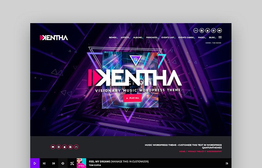 Kentha Music Portal WordPress Theme