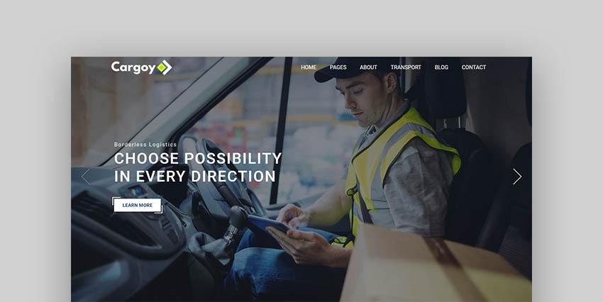Cargoy Trucking Theme WordPress