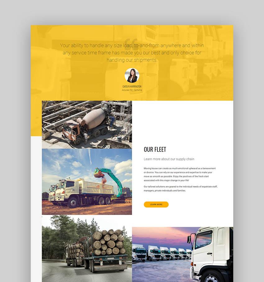 Wheelco Transport Logistics WordPress Theme