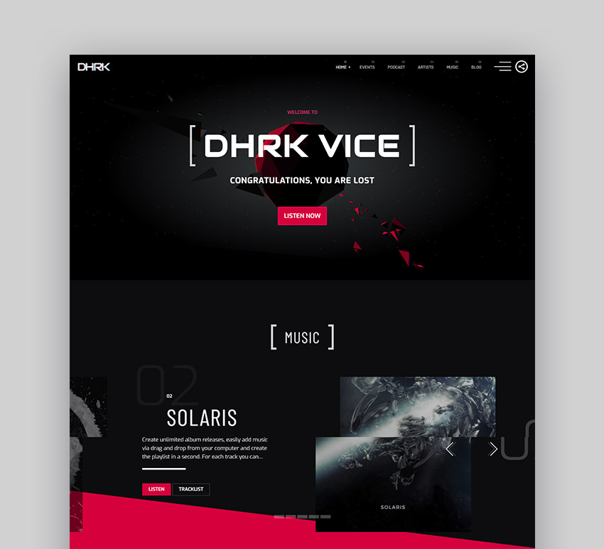 Vice WordPress Radio Theme