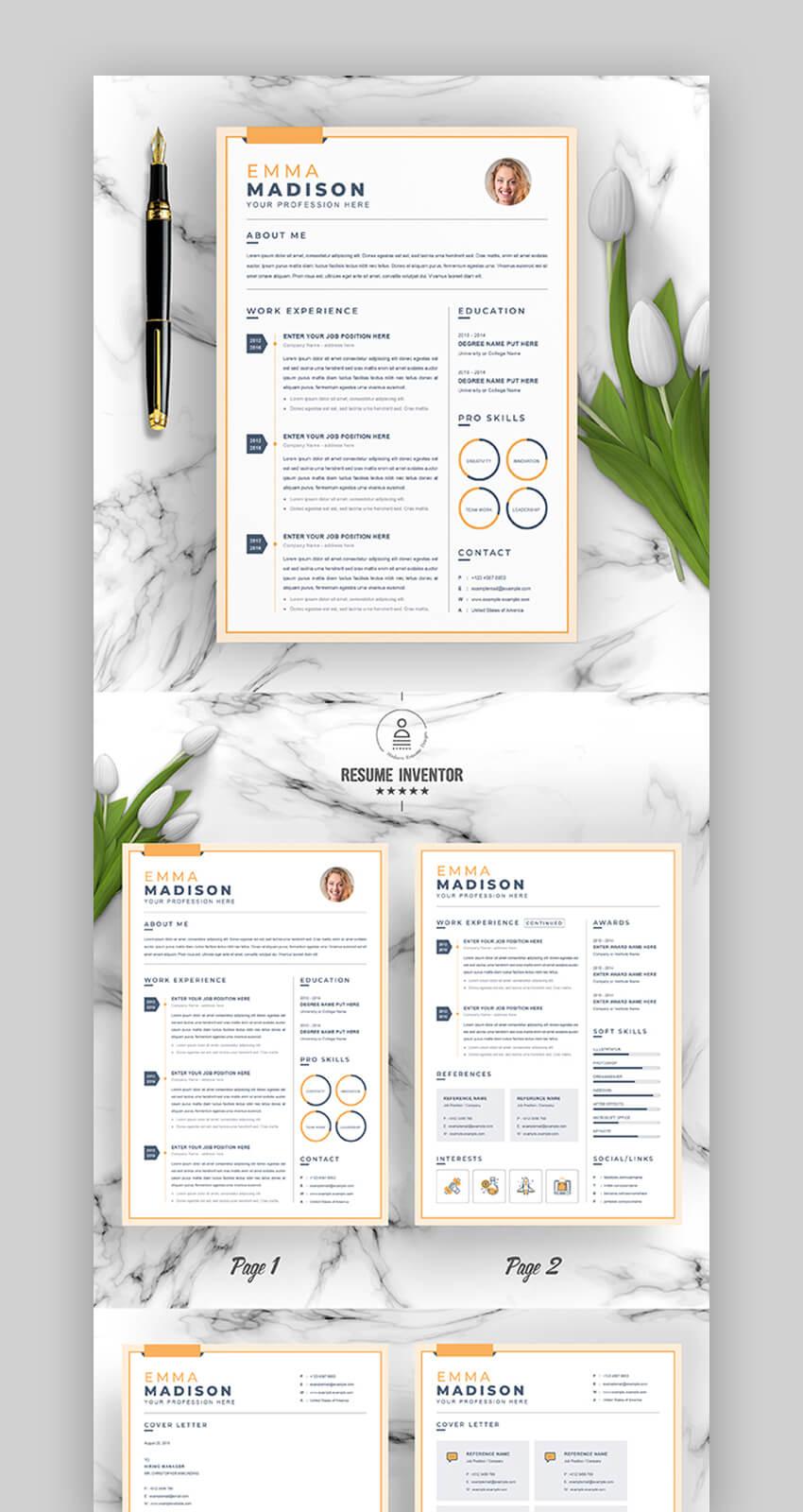 Minimal Aesthetic Colorful Resume