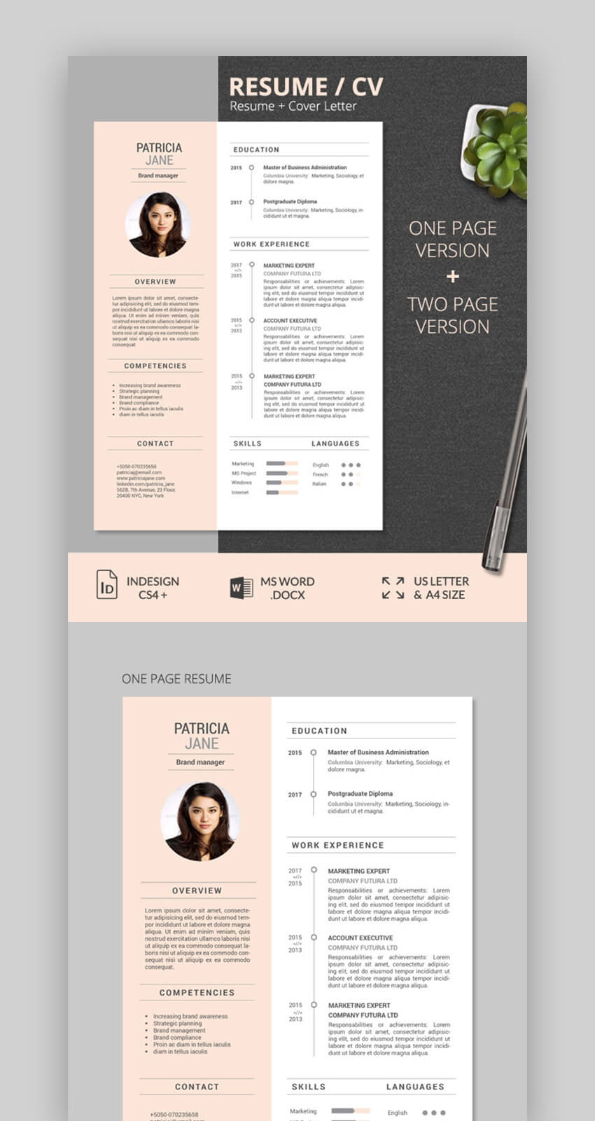 Colorful Pastel Resume Template
