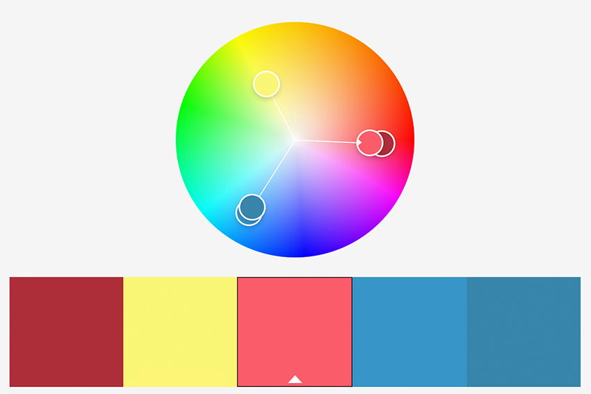 Vibrant and Creative Triad Color Swatch