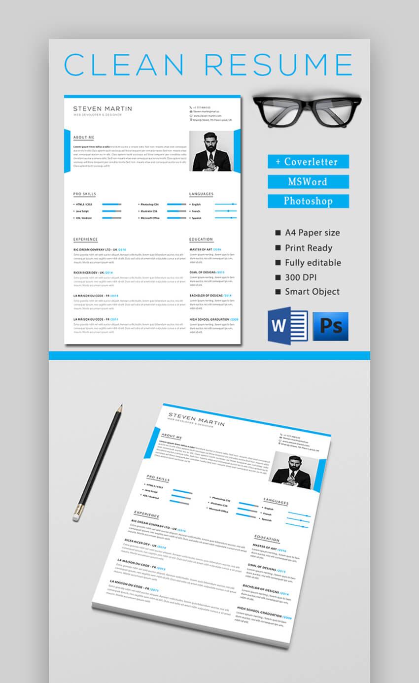 Simple Blue Resume Template