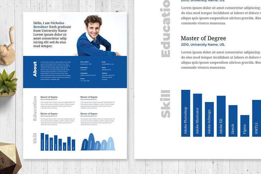 Classic Blue Innovative Resume